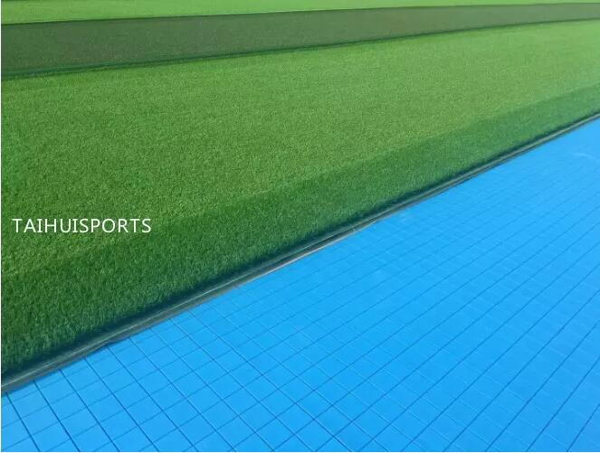 PE Foam Double-Sided Grooved Shock Pads Underlay Soccer Rugby Hockey Field High Tensile Strength Customized Thickness