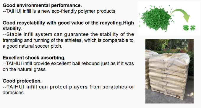 2-4 MM Diameter Landscaping Synthetic Turf Infill EPDM Rubber Granules Octahedral Prism Low Bulk Density Cool Infill 3